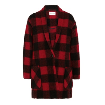 Gabrie Plaid Wool Blend Coat