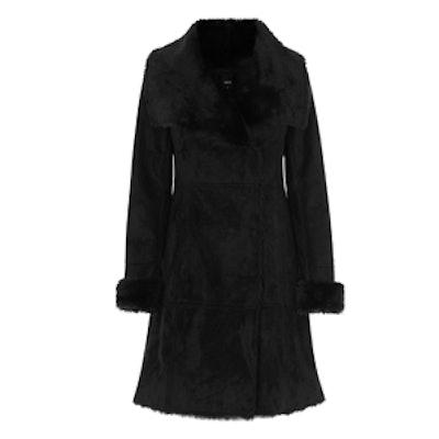 Longline Faux Shearling Coat