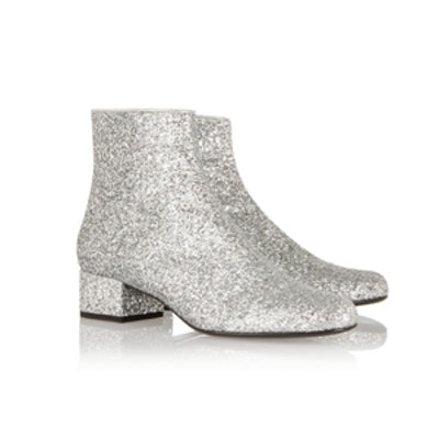 Glitter Finish Ankle Boots