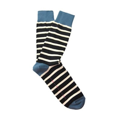 Striped Blue Socks