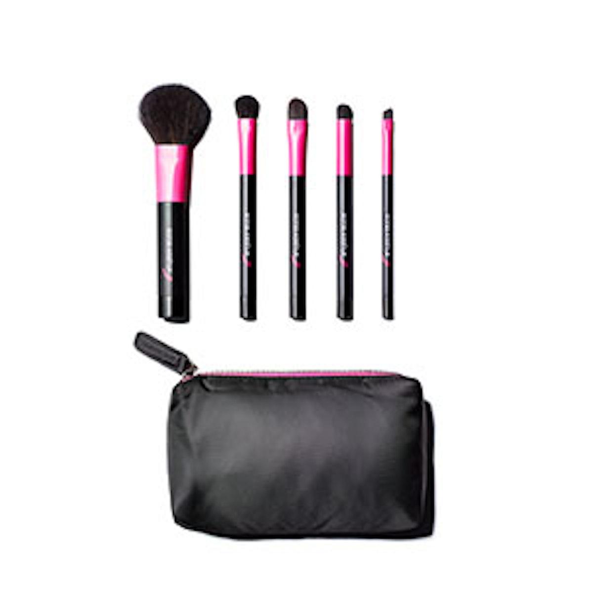 Proudly Pink Five-Piece Purse Brush Set