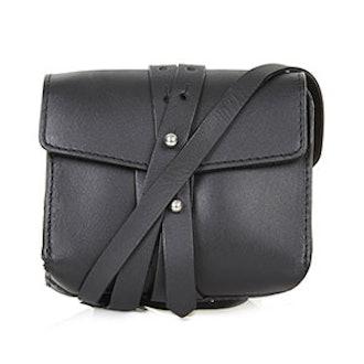 Structured Leather Belt Bag