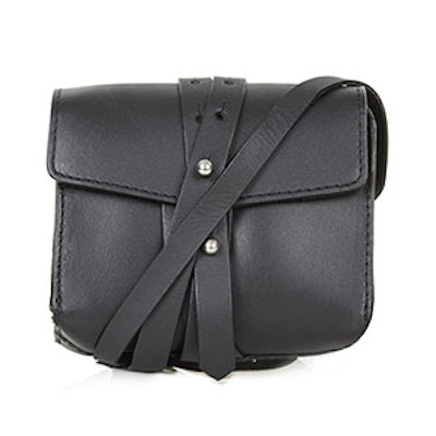 Structured Leather Belt Bag