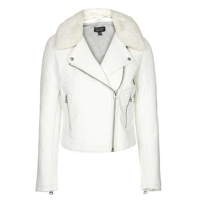 Ultimate Leather Jacket In White