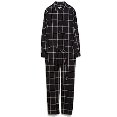 Black Checked Jumpsuit