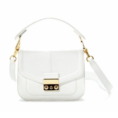 Mini Messenger Bag with Metal Clasp