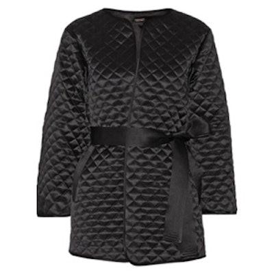 Quilted Silk Satin Jacket
