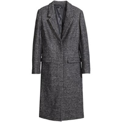 Melange Coat in Wool Blend