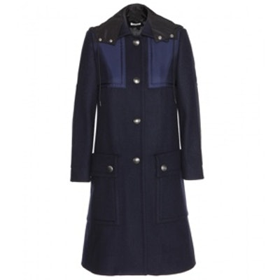 Wool Coat with Shell Detail