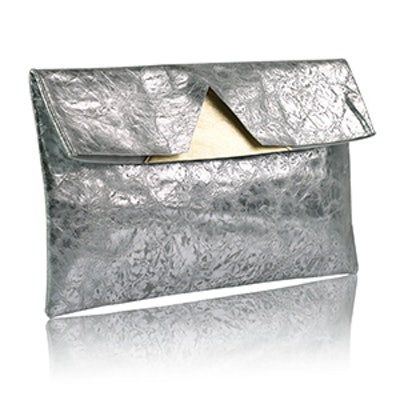 Distressed Silver Pouch