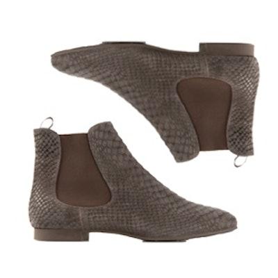 Snakeskin Effect Chelsea Boots