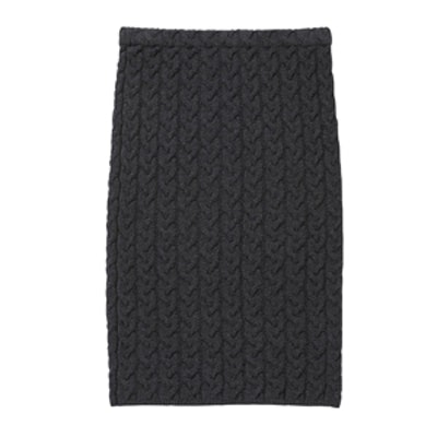 Cable-Knit Pencil Skirt