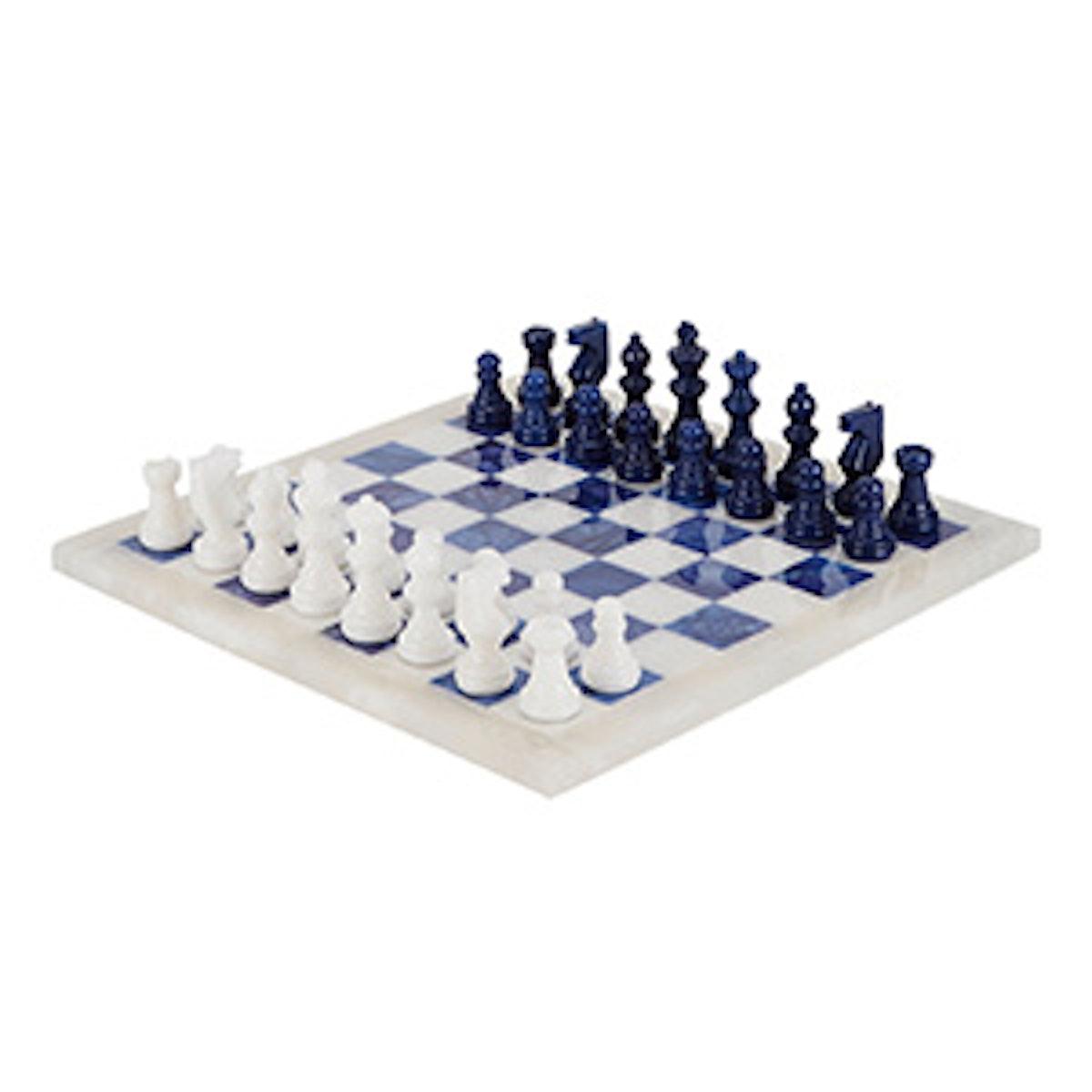 Marbled Alabaster Chess Set