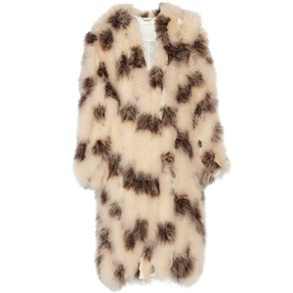 Feather-Embellished Coat