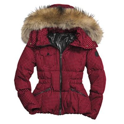 Gingham Short Down Coat
