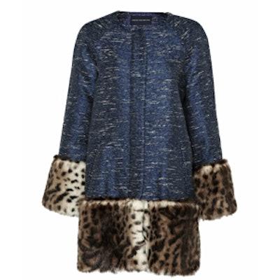 Metallic-Woven Coat