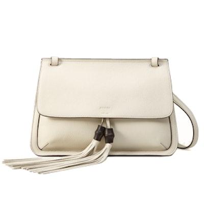 Bamboo Leather Flap Shoulder Bag