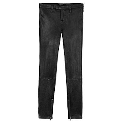 L8430 Leather Jamie Biker in Noir