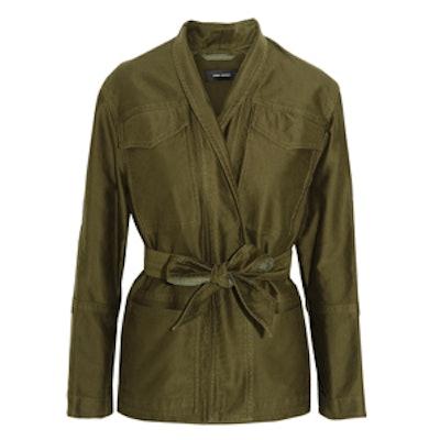 John Cotton-Sateen Jacket