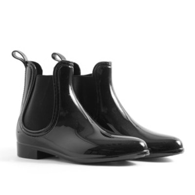 Wellie Chelsea Boots in Black
