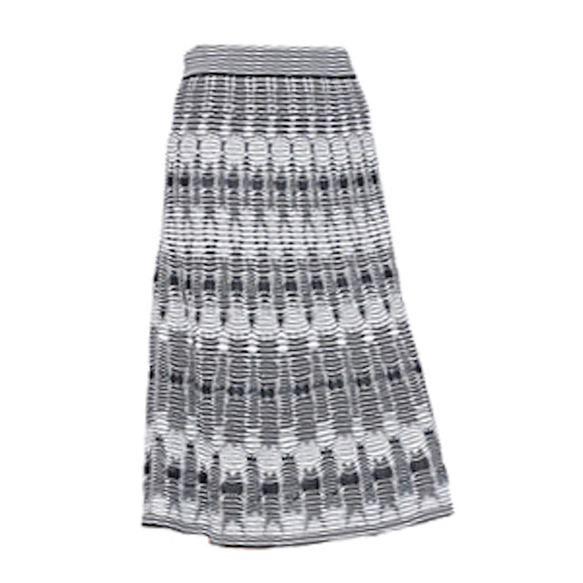 Tie-Dye Knit Midi Skirt