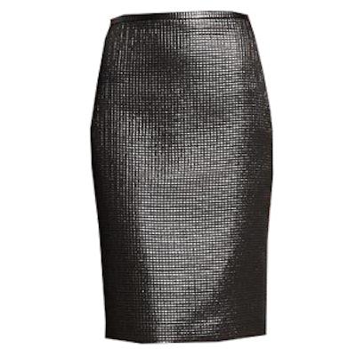 Gunmetal Pencil Skirt