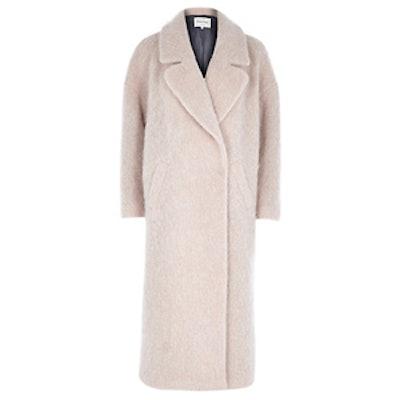 Light Pink Woolen Maxi Coat