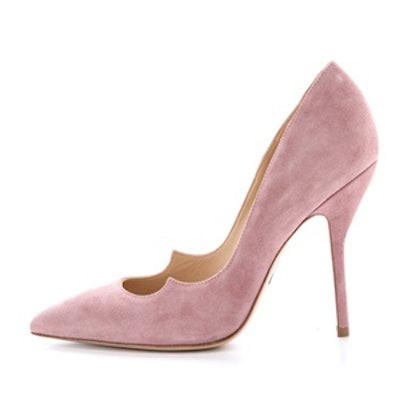 Pink Suede Pump