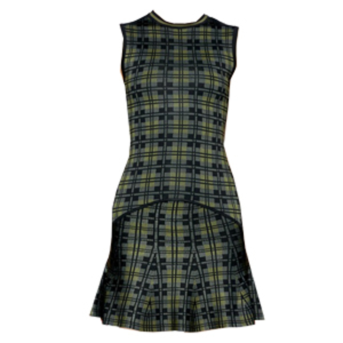 Drop Waist Plaid Dress
