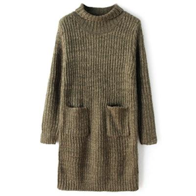 Khaki Sweaterdress
