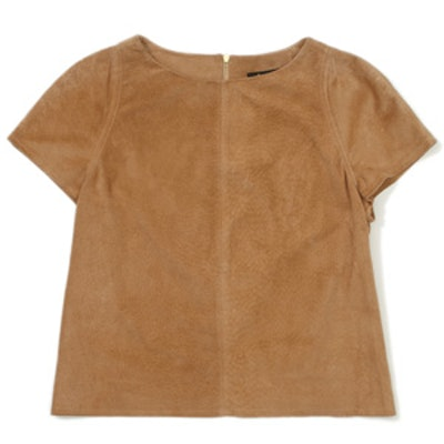 Suede Cross Back Tee