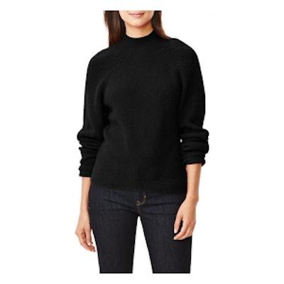 Mockneck Sweater in True Black