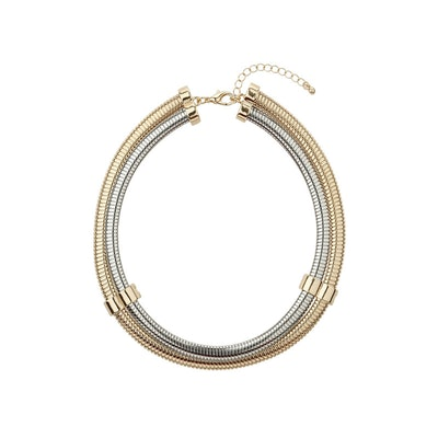 Gold and Silver Torque Necklace