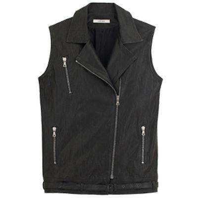 Hubbarb Leather Vest in Black