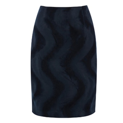 Faux Fur Wavy Pencil Skirt