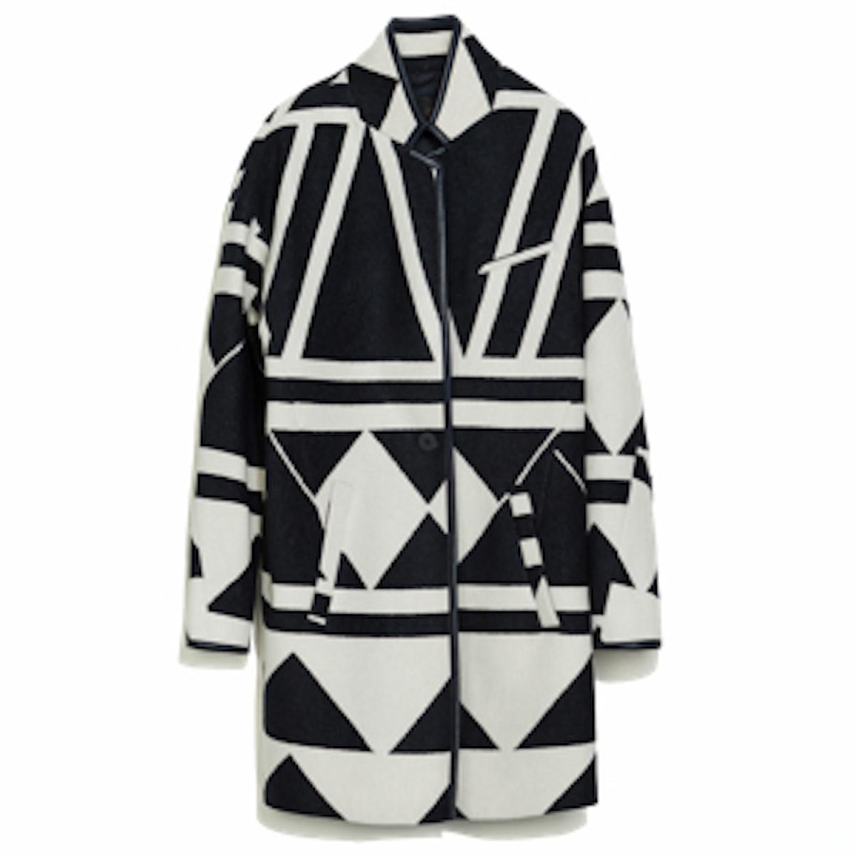 Geometric Wool Coat