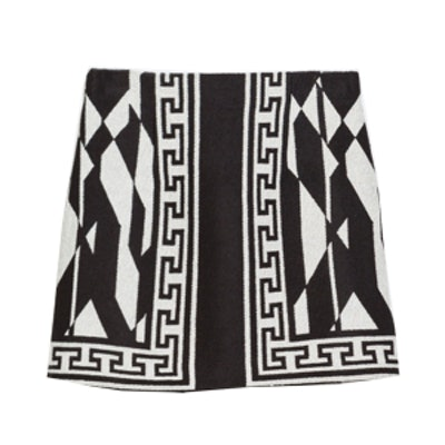 Patterned Miniskirt with Border