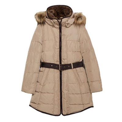 Long Anorak With Piping