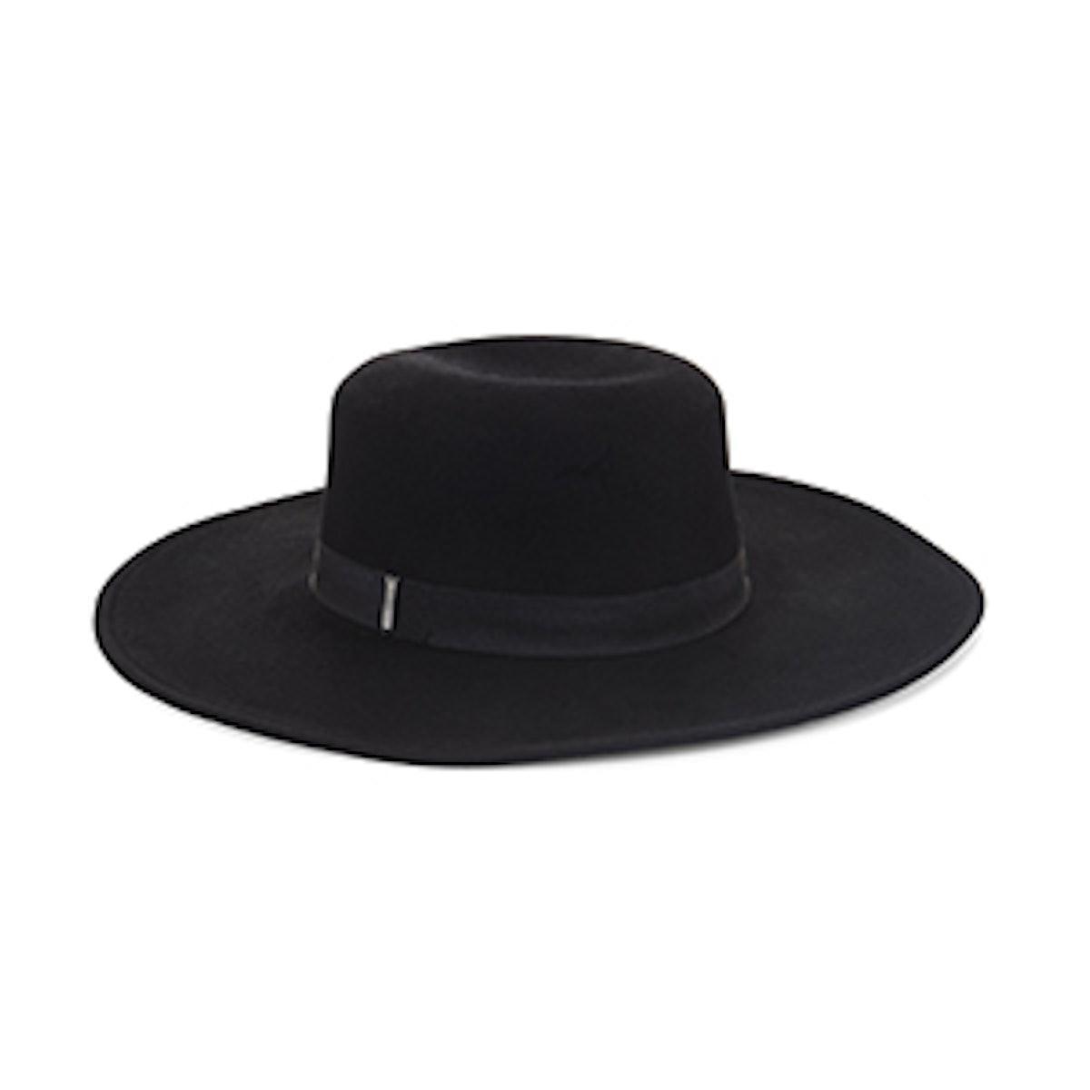 Sleek Wool Boater Hat