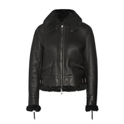 Tilda Shearling-Lined Leather Jacket