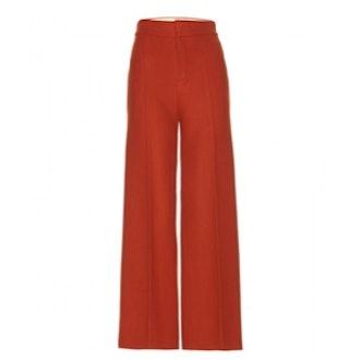 Wide-Leg Wool Trousers