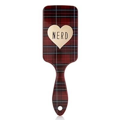 Plaid Nerd Paddle Brush
