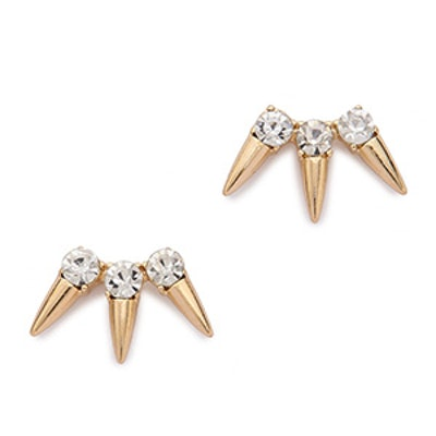 Rhinestone & Spike Earrings