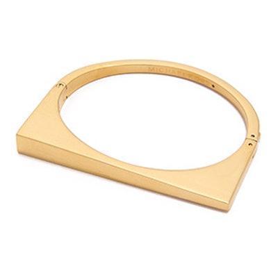 Asymmetrical Hinge Bangle Bracelet