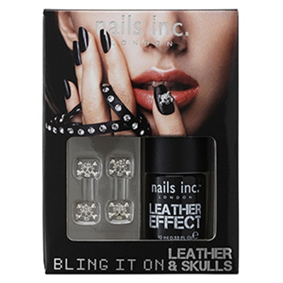 """Bling It On"" Leather & Skulls Nail Polish Set"