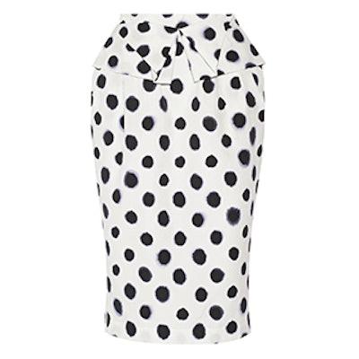 Anabelle Printed Embossed Taffeta Skirt