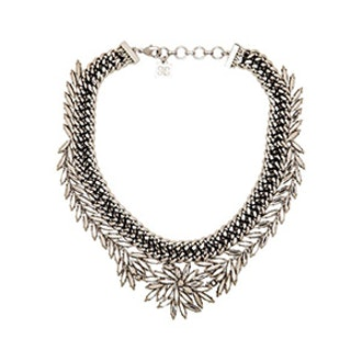 WOVEN LEAF NECKLACE