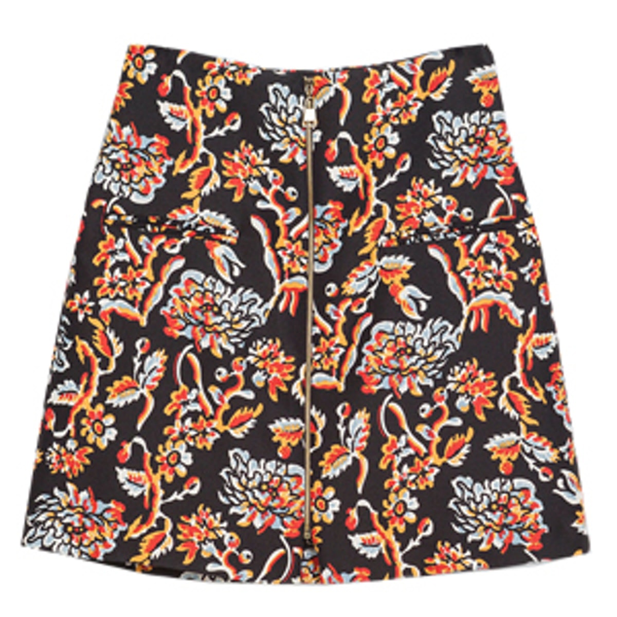 Printed Skirt With A Zip
