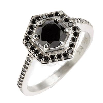 Hex Black Diamond Ring
