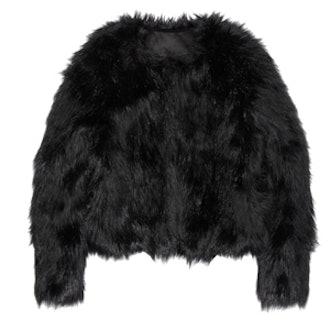 Faux Fur Jacket in Black